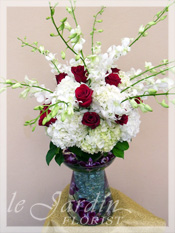 Feeria :: DOUBLE VASE LARGE ARRANGEMENT :: Le Jardin Signature