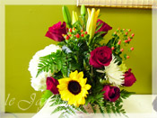 Simple Celebration I :: Basket Flower Arrangement