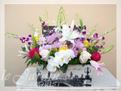 Victorian Treasure Chest Flower Arrangement