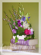 Book Nostalgia Flower Arrangement