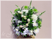 White & Green Harmony Floral Arrangement