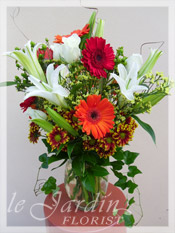 Orange Victorian Bouquet Flower Arrangement