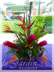 Tropical Paradise Arrangement :: a le Jardin Signature Floral Arrangement