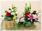 Double Jeopardy :: 2in1 :: a le Jardin Florist Signature Floral Arrangement